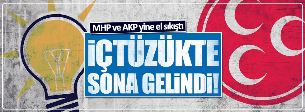 AKP ve MHP içtüzükte sona geldi