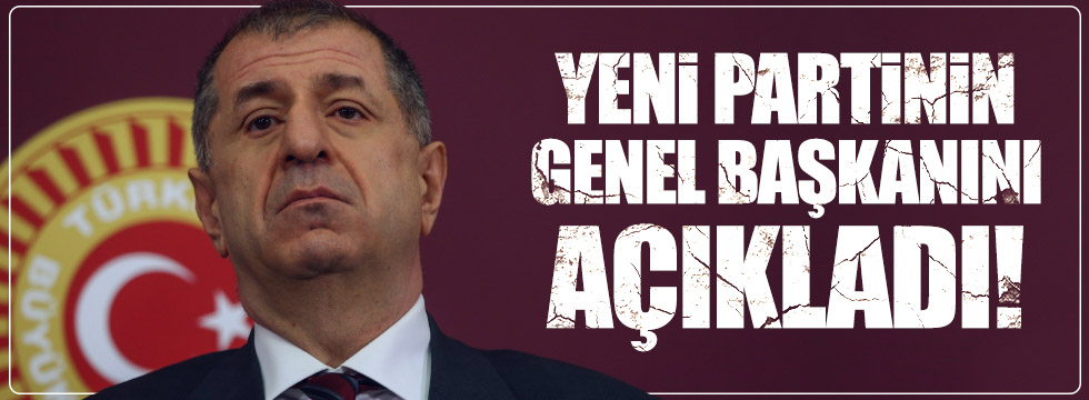 Ümit Özdağ yeni partinin genel başkanını açıkladı!