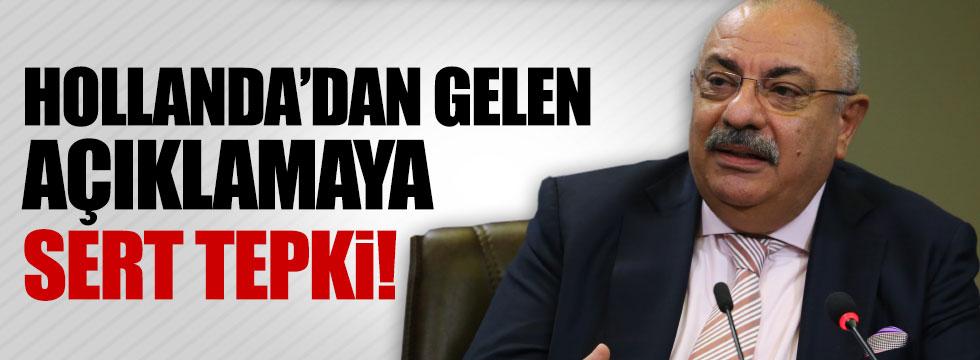 Türkeş'ten Hollanda'ya ilk yanıt
