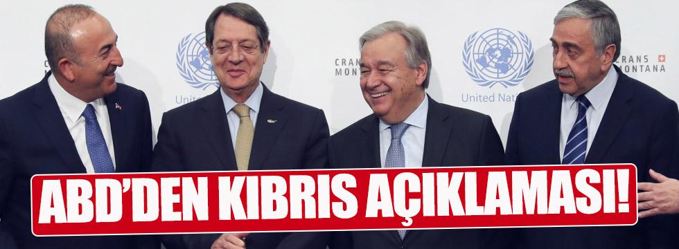 ABD'den Kıbrıs açıklaması