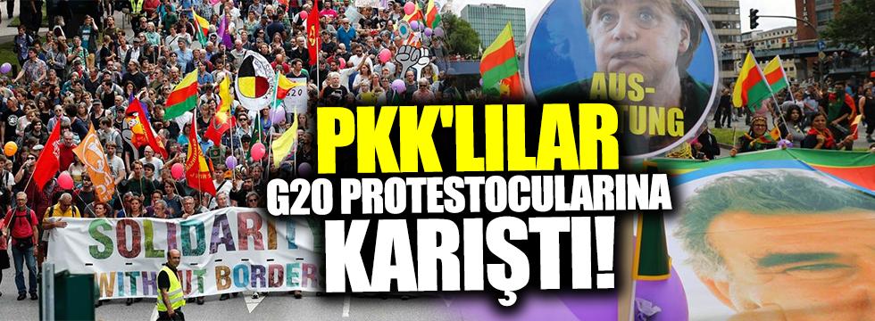 PKK'lılar G20 protestocularına karıştı