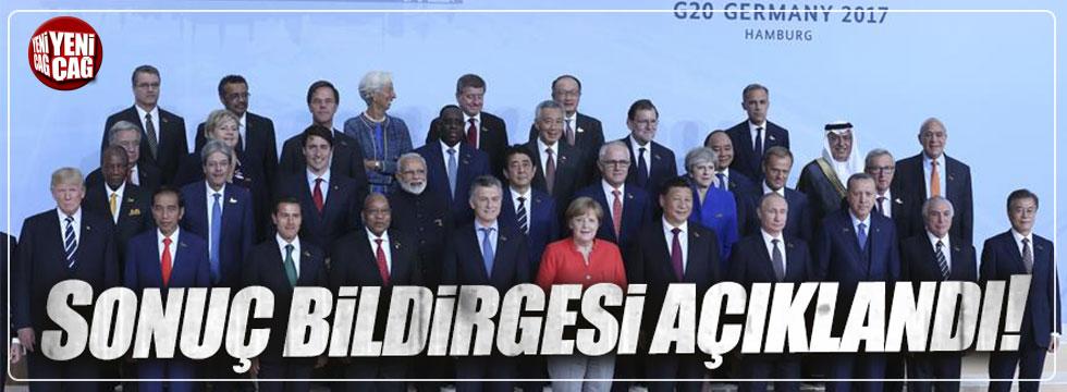 G-20 Zirvesi sonuç bildirgesi açıklandı