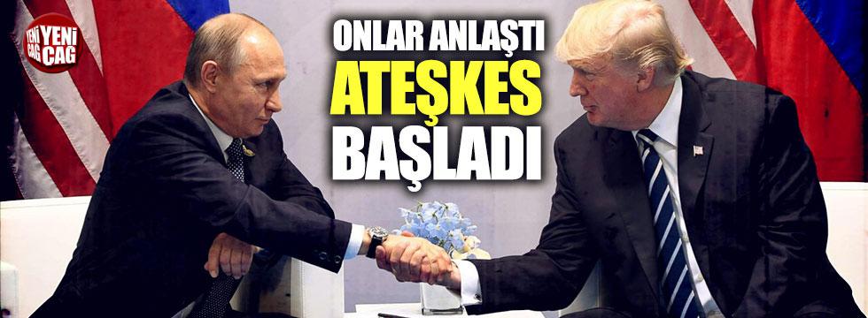 ABD-Rusya anlaşmasının ardından Suriye'de ateşkes başladı