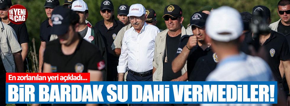 """CHP'ye Adalet yürüyüşünde hangi belediye """"su"""" bile vermedi?"""