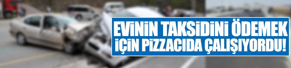 Evinin taksitlerini ödemek için pizzacıda çalışıyordu