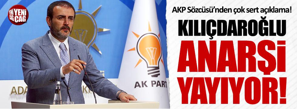 AKP Sözcüsü Ünal: Kılıçdaroğlu tehlikeli bir oyun oynuyor