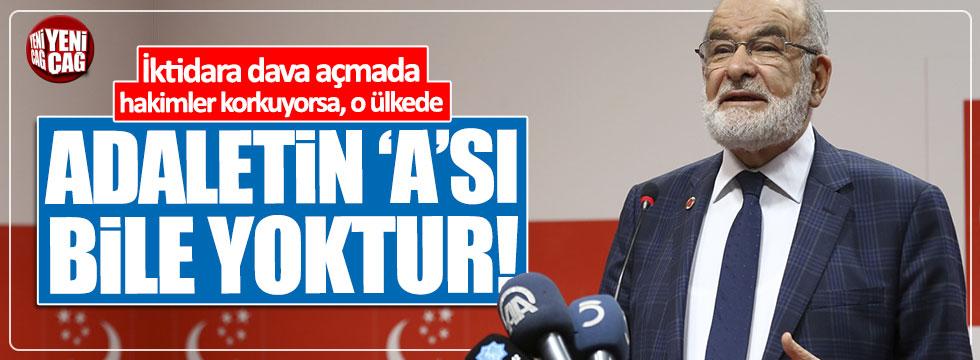 Karamollaoğlu'ndan 'adalet' çıkışı!