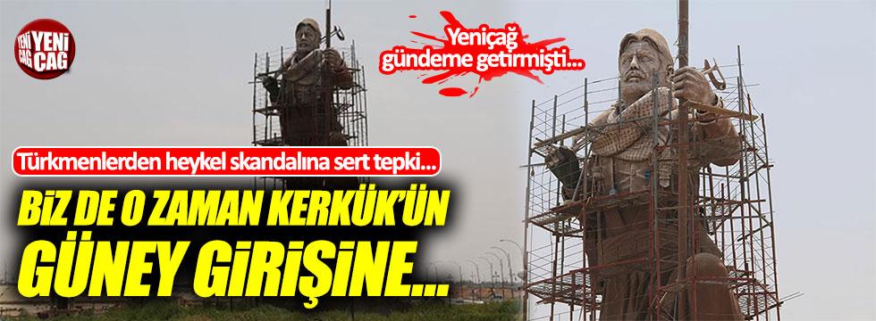 Türkmenlerden Peşmerge heykeli skandalına sert tepki!
