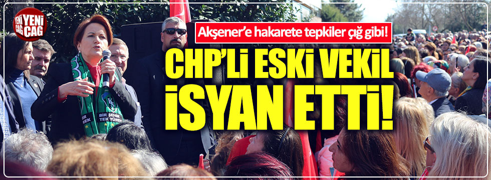 Akşener'e bir destek de CHP'li Topkan'dan!