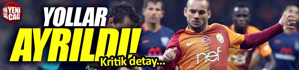 Wesley Sneijder Galatasaray'dan ayrıldı!