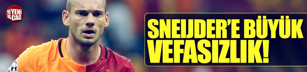 Sneijder'e büyük vefasızlık