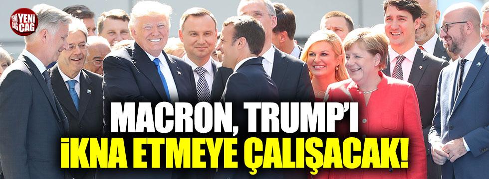 Macron, Trump'ı ikna etmeye çalışacak