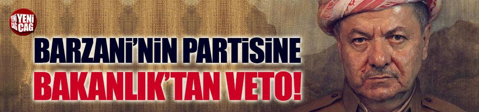 Barzani'nin partisine İçişleri Bakanlığı izin vermedi