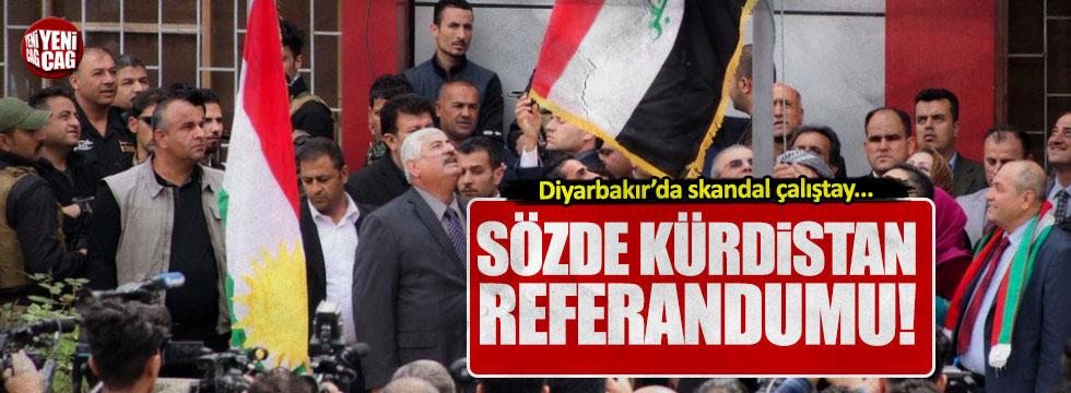 """Diyarbakır'da skandal çalıştay: sözde """"Kürdistan referandumu!"""""""
