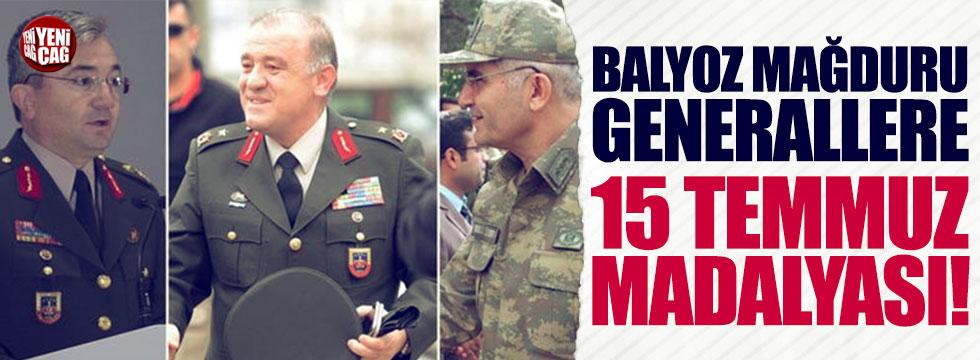 Balyoz mağduru generallere 15 Temmuz madalyası