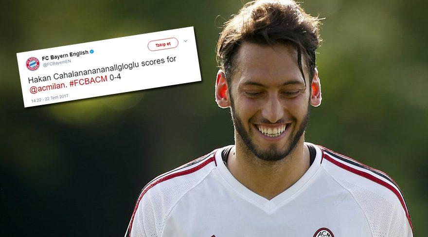 Bayern Munich'in resmi hesabından ilginç Hakan Çalhanoğlu tweeti