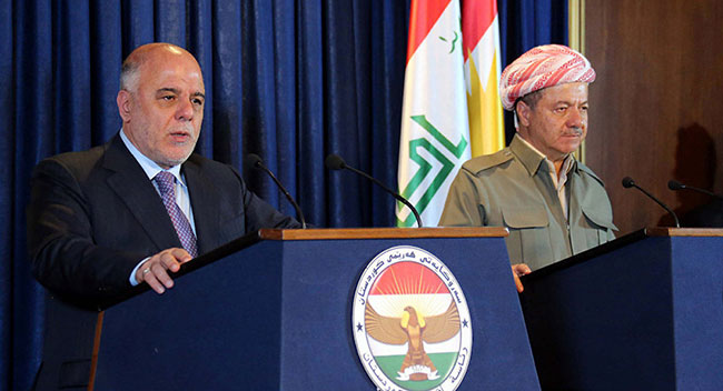 İbadi'den Barzani'ye: Referandumu tanımayacağız