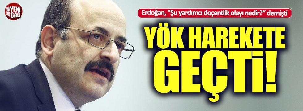 Erdoğan'ın açıklamasından sonra YÖK'ten flaş hamle