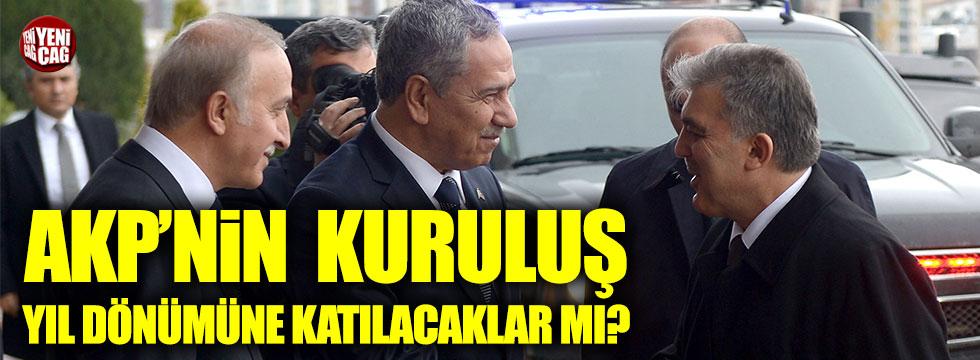 Eski isimler AKP'nin 16'ncı kuruluş yıl dönümüne katılacak mı?