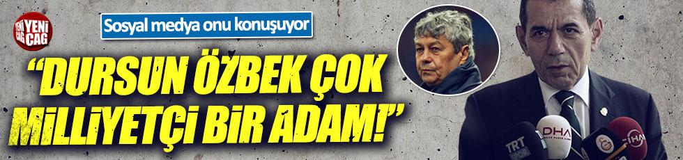 Taraftarlardan Dursun Özbek'e tepki: Çok milliyetçi bir adam!