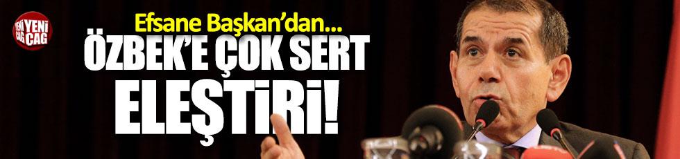 Eski başkandan, Özbek'e sert sözler