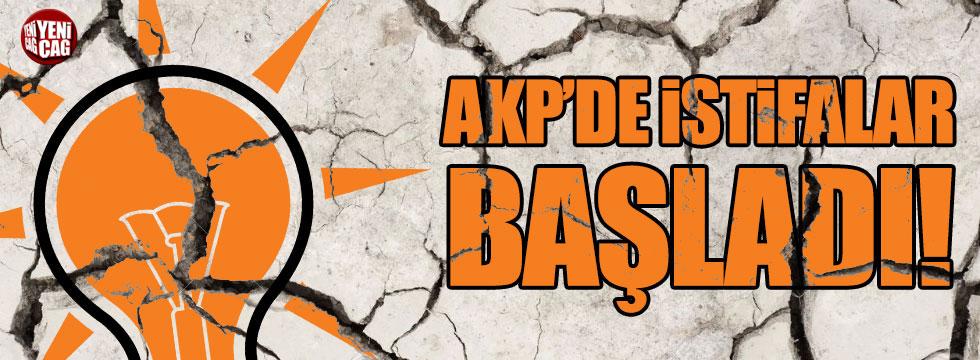 AKP'de istifalar başladı