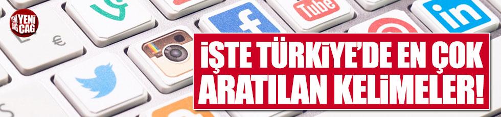 İşte Türkiye'de en çok aratılan kelimeler