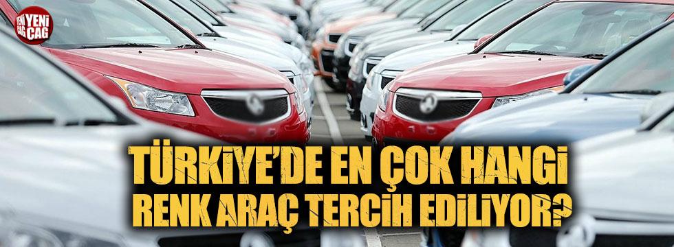 Türkiye'de en çok hangi renk araç tercih ediliyor?