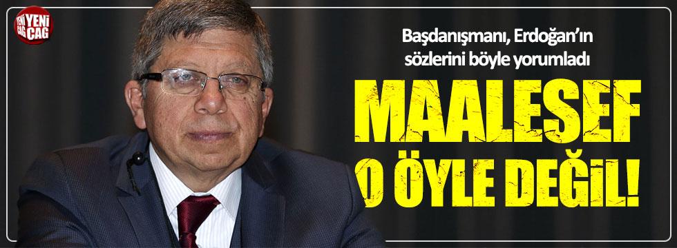 Başdanışman İlnur Çevik'ten Erdoğan'a: Maalesef o öyle değil!