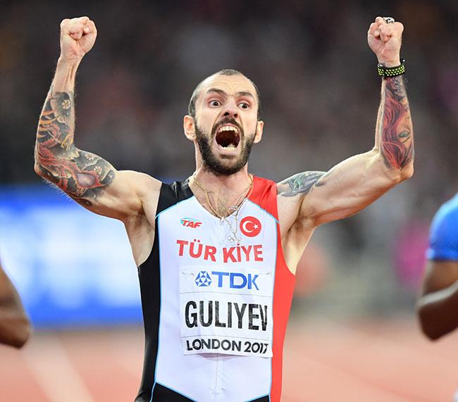 Milli atletimiz Ramil Guliyev dünya şampiyonu oldu