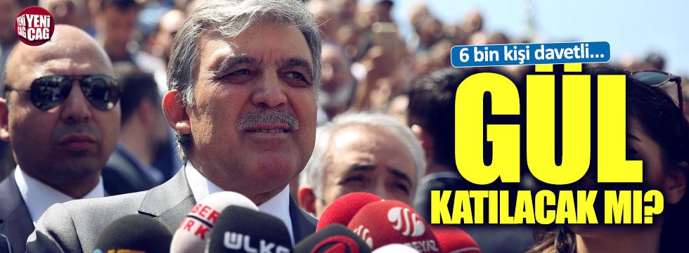 AKP'nin kuruluş yıl dönümüne Gül de katılacak mı?