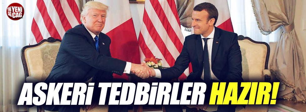 Trump ve Macron Kuzey Kore'yi konuştu