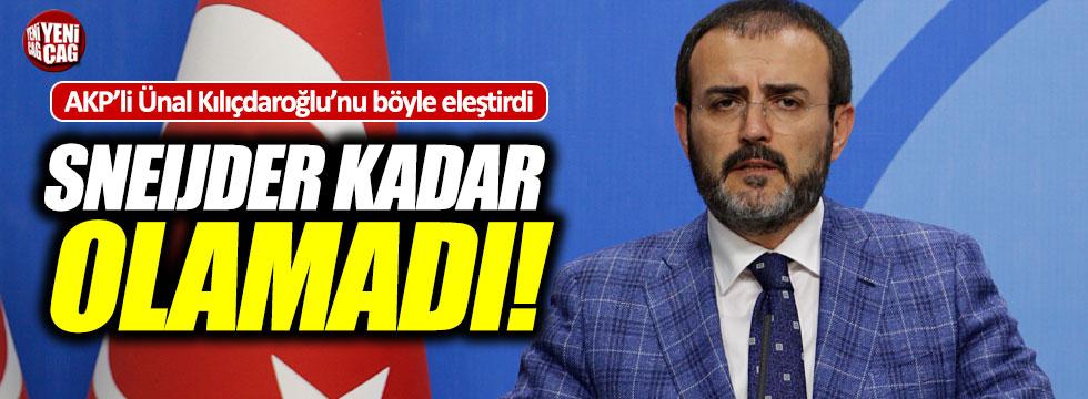Ünal'dan Kılıçdaroğlu'na 'Sneijder'li eleştiri