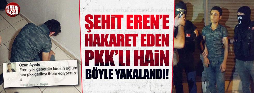 Şehit Eren'e dil uzatan PKK'lı Ozan Ayede yakalandı