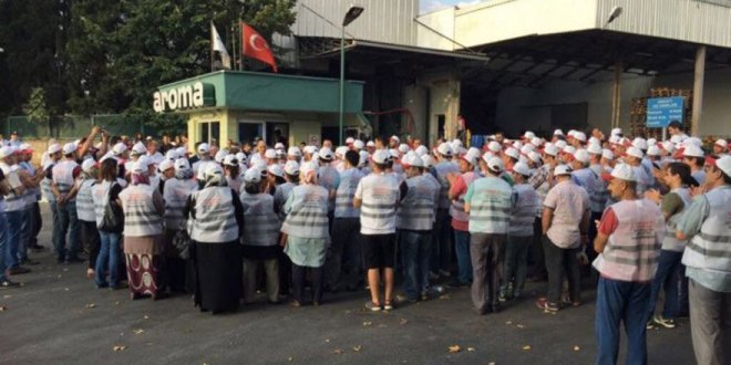 Ünlü meyve suyu fabrikasında grev