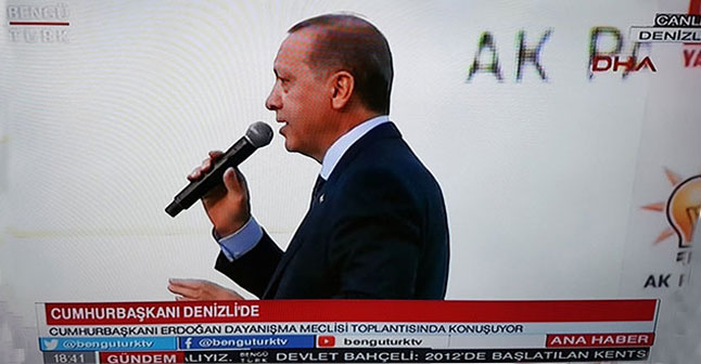 MHP Genel Merkezi'nin kanalında Erdoğan'a canlı yayın!