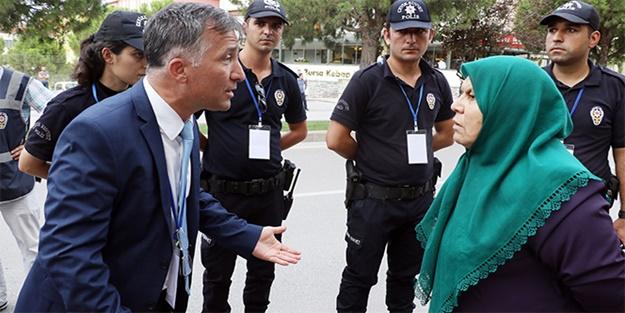 Erdoğan'a giderken yanlış otobüsün önüne atladı
