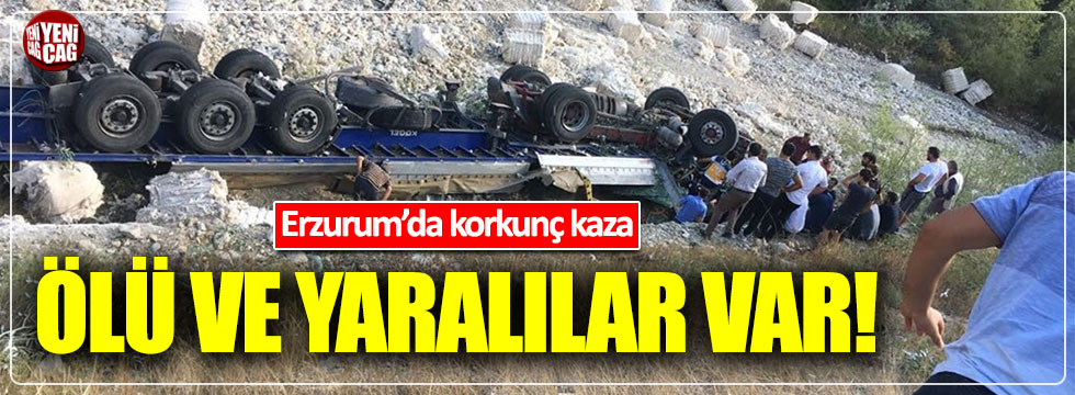 Erzurum'da facia gibi kaza: 3 ölü, 3 yaralı
