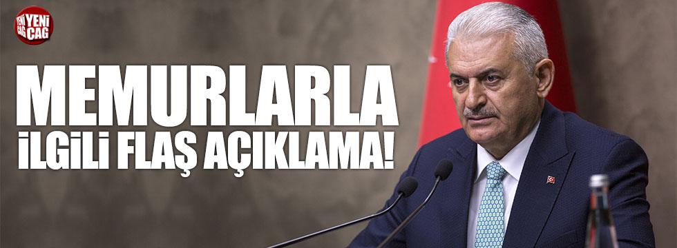 Başbakan'dan memurlarla ilgili flaş açıklama!
