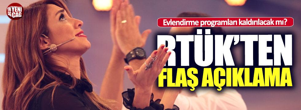 RTÜK'ten evlilik programları açıklaması