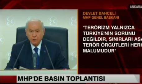 Bahçeli Koray Aydın'ın istifasını böyle yorumladı.