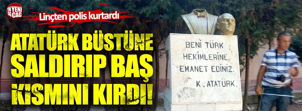 Mersin'de Atatürk büstüne çirkin saldırı