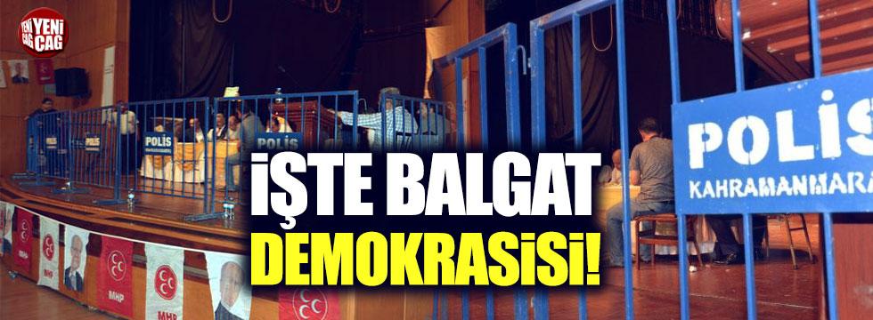Polis gözetiminde MHP kongresi