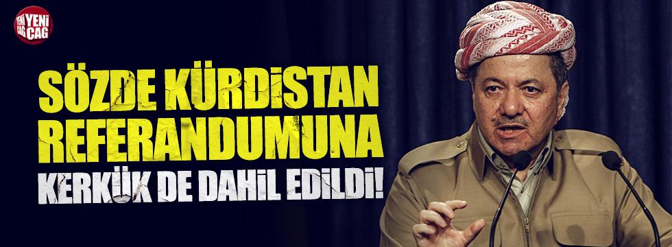 Kerkük sözde Kürdistan referandumuna dahil edildi