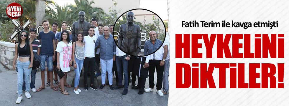 Terim'le kavga eden Aydoğdu'nun heykelini diktiler