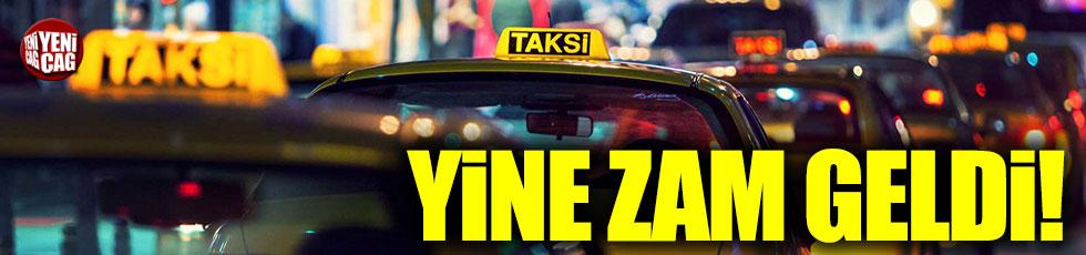 İstanbul'da taksi ücretlerine yine zam geldi!