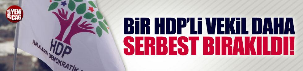 Bir HDP'li vekile daha tahliye