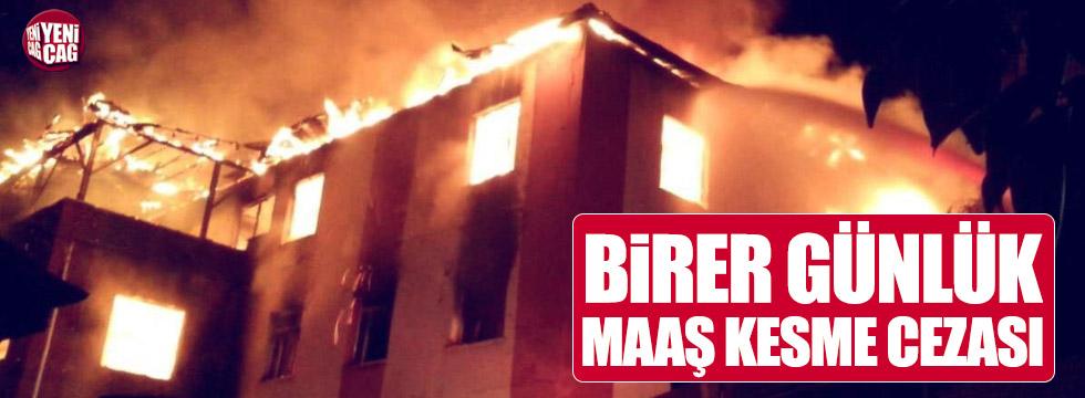 Aladağ'daki yangında sahte rapora ilginç ceza