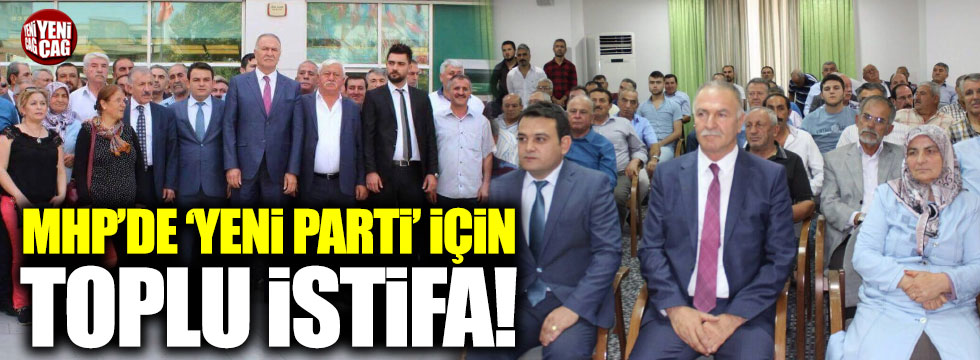 MHP Niğde'de istifa depremi... 300 istifa!