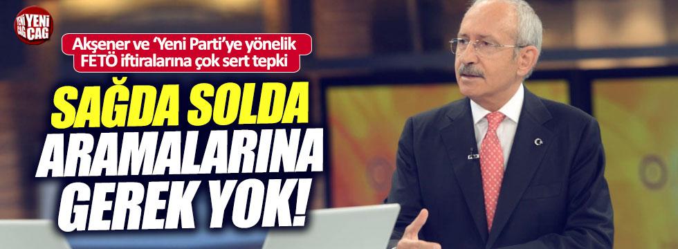 Kılıçdaroğlu'ndan, Akşener ve FETÖ iftiralarına tepki